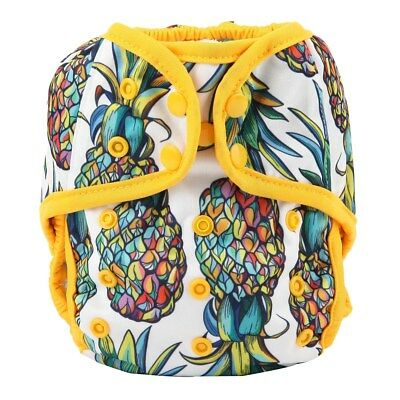 Baby Diaper Cover Nappy Cover Double Gussets Reusable One Size Pineapple