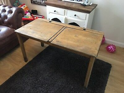 Kids Vintage Double School Desk