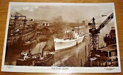 "The River Clyde, Glasgow with ship ""City Of Singapore"". Ralston Series RC3"