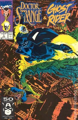 Doctor Strange Ghost Rider Special #1 1991 FN Stock Image