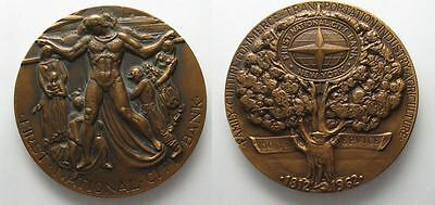 FIRST NATIONAL CITY BANK NEW YORK Commemorative medal 1962 bronze 76mm # 93794