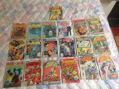 Mixed lot of 19 DC Comics D.C. comic books from poor to very fine shape