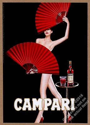 2006 Campari aperitif woman with fans photo vintage print ad