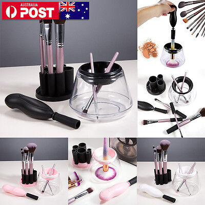 Electric Makeup Brush Cleaner And Dryer Set Includes Brush Collar Stand VT
