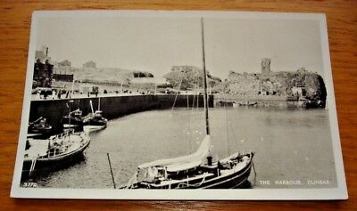 The Harbour, Dunbar. Real photo postcard, posted in 1959