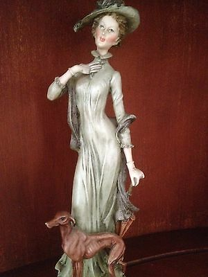 Whippet Porcelain Figurine Italy Priority Shipping