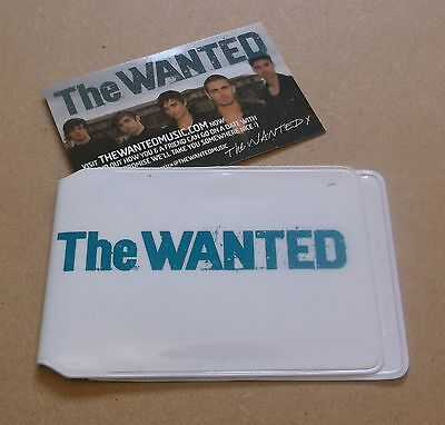 THE WANTED 2010 UK promo only travel pass holder wallet WHITE