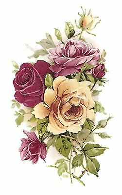 Pink Yellow Rose Flowers Select-A-Size Waterslide Ceramic Decals Bx