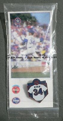 NOLAN RYAN 1996 Retirement Jersey Pin Texas Rangers Stadium only Give away NEW