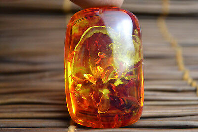 China Nice Amber Resin Carved natural totem Beauty wonder Pendant