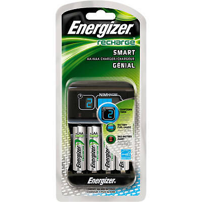 Energizer SMART Battery Charger with 4x 1400mAh batteries included