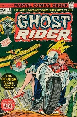 Ghost Rider (1st Series) #12 1975 VG+ 4.5 Stock Image Low Grade