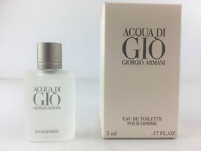 Sample Size ACQUA DI GIO BY GIORGIO ARMANI MEN COLOGNE EDT MINI SPLASH 5 ML NEW