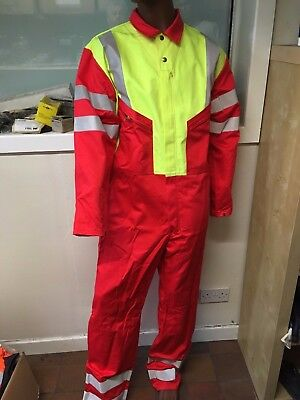 Sontex  Flame Retardant Coverall / Boilersuit - Reflective Stripes Hi Viz