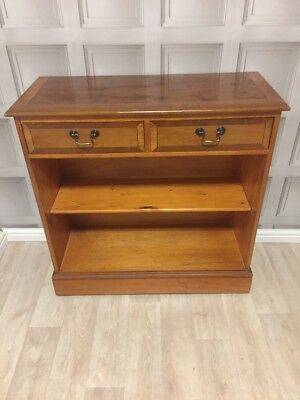Walnut Veneer Antique Style Bookcase With Drawers FREE UK P&P🇬🇧