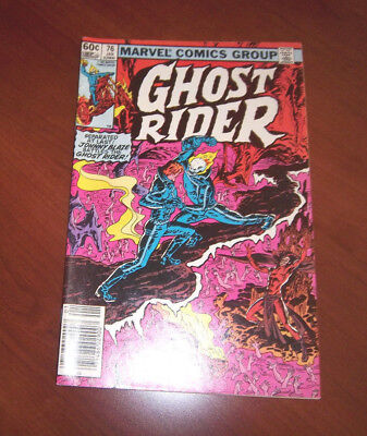 Ghost Rider Vol. 1 #76 w/ Johnny Blaze Half A Demon Half a Man!  Great Cond 1983