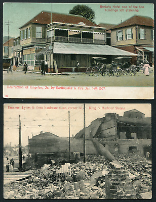 JAMAICA: (17314) EARTHQUAKE Post Cards