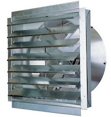 "24"" Industrial Exhaust Fan MaxxAir Heavy Duty Barn Greenhouse Kitchen Vent"