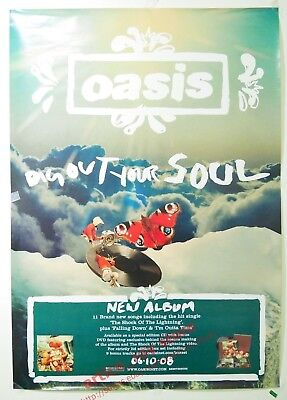 "Oasis Dig Out Your Soul 2008 Taiwan Promo Poster (33""x23"") NEW"
