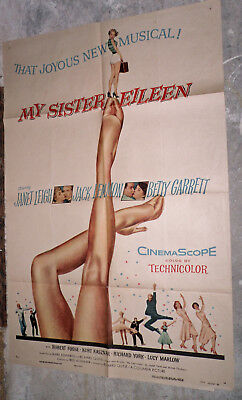 MY SISTER EILEEN orig 1955 one sheet poster JANET LEIGH/BOB FOSSE/BETTY GARRETT