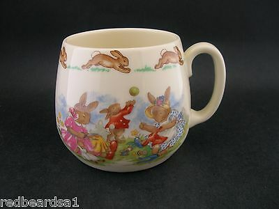 Royal Doulton Bunnykins Vintage China Childs Cup 1 Handle Sewing at Play c1960s