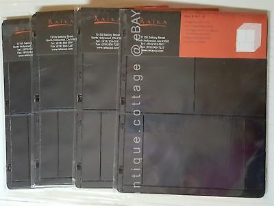 "LOT of 4 packages UNUSED RAIKA REFILL PAGES #161-A 9""x11.25"" 3-ring binder 48pgs"