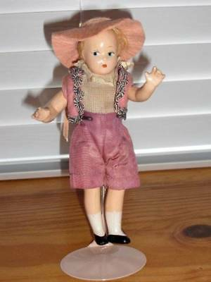 MME Alexander ~ Vintage 1930's Compo Side Glancing Tiny Betty Doll 7""