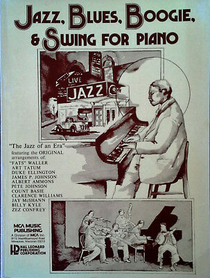 Jazz, Blues, Boogie, & Swing For Piano - 180 Page Songbook - Hal Leonard / Mca