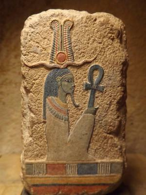Egyptian art -  relief sculpture of the God Osiris. Mythology of ancient Egypt.