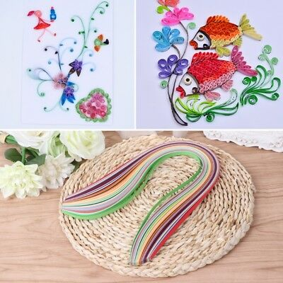 New Paper Quilling Strips 180 Pcs 36 Colors 21.26-inch Length for Craft Projects