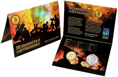2009 Australia Two Coin Unc Set $1 and 20c International Year of Astronomy RAM