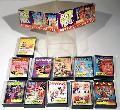 Vintage 1990 Topps Rot N Roll Bubble Gum Cassettes Barf Boys 11 Cards With Box