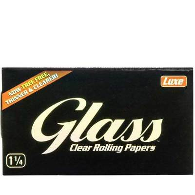 Glass transparent Size Luxe Clear Rolling paper 1 1/4 Tips Smoking Cigarette