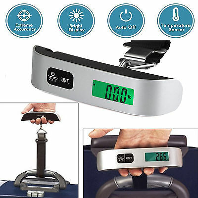 50kg/110lb Portable Travel Digital Hanging Luggage Scale Electronic Weight Top