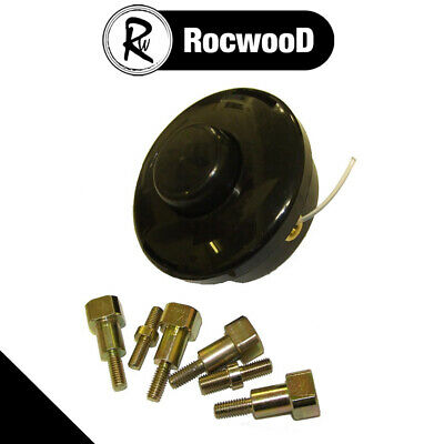 Universal 2 Line Bump Feed Head And Adaptor Bolts Strimmer And Brushcutter