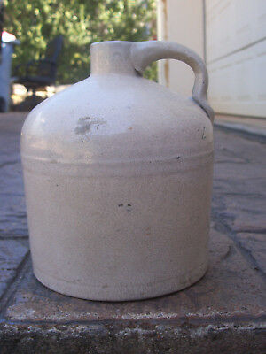 UNUSUAL 19th C AUSTRALIAN POTTERY JUG - HAND MADE - COLONIAL - POSTAGE $15.00