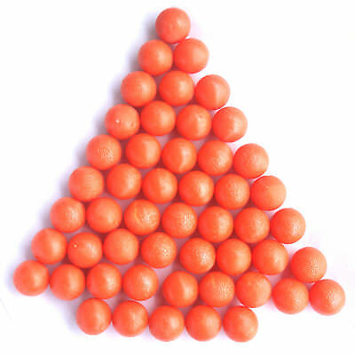 New .68 cal Reusable Rubber Training Balls Paintballs Orange - 100 Pcs