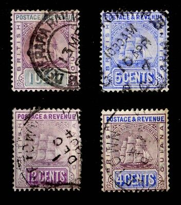 British Guiana: 1889-1907 Classic Era Stamp Collection Cv $17.50 All Sound