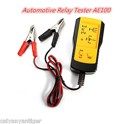AE100 Car Battery Checker Electronic Automotive Relay Tester Auto Relay Test 12V