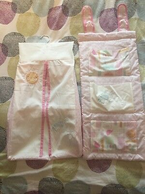 Nappy Stacker And Bits & Bobs Holder For Baby Girls Nursery BN matalan
