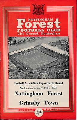 Nottingham Forest v Grimsby Town (FA Cup) 1958/9 - Forest Cup Winners!