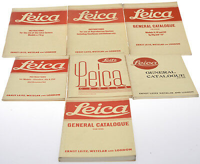 Leitz, lot of reprint of 3 Leica Catolgue (4) and 3 instruction books L067