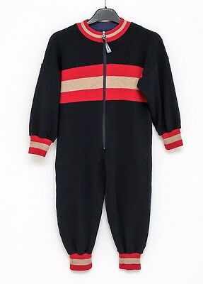 Boy Quickman Oy Ski Thermal Suit Baselayer Overall 100% Wool Blue 110Cm 5-6Years