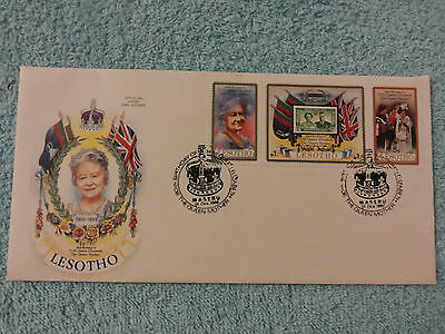 LESOTHO 1980 QUEEN MOTHER'S 80th BIRTHDAY  FIRST DAY COVER,  1st DECEMBER
