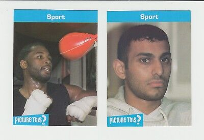Boxing : Lennox Lewis + Naseem Hamed : superb Picture This? cards - UK edition