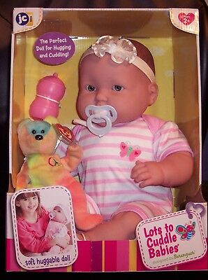 "NIB Berenguer 2 Teeth 20"" Lots To Cuddle Babies Blue Eyes 2016 Baby Doll HTF"