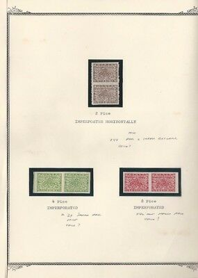 Nepal Postage Stamps #44, 39, 46 Mint Imperf Pairs, 1935-1941