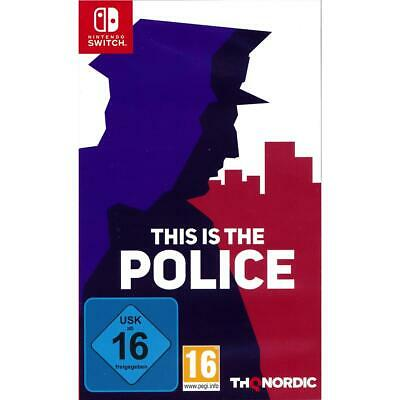 This is the Police Nintendo Switch Spiel, NEU