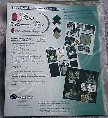 Creative Memories Printed Photo Mounting 10x12 Paper - NIP
