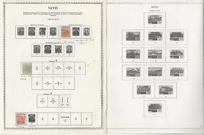 Nevis Collection 1861 to 1982 on 11 Minkus Specialty Pages